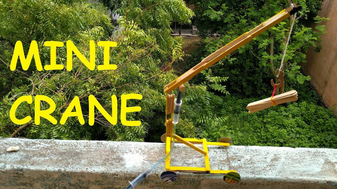 How to make a crane very easy youtube for Make a crane