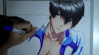 Speed Drawing   Haruka Nanase   Free!
