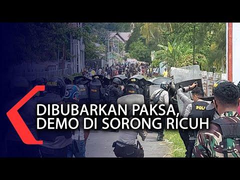 Dibubarkan Paksa, Demo Di Sorong Ricuh
