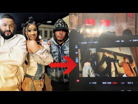 CARDI B AND DJ KHALED ON SET FOR NEW MUSIC VIDEO 😱 He Said He Couldn't Get Cardi On His Album