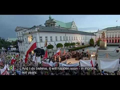 Jaroslaw Kaczynski - speech during eighty-seventh smolensk month anniversary