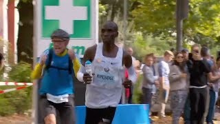 Eliud Kipchoge's World Record Water Bottle Handler Highlights