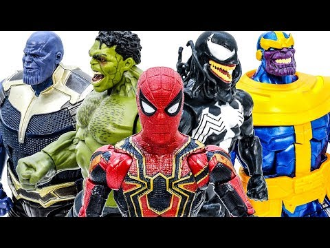 Avengers Toys Playing Together - Thanos Appeared~ Go Go Go~ Lets Defeat Thanos #Toymarvel