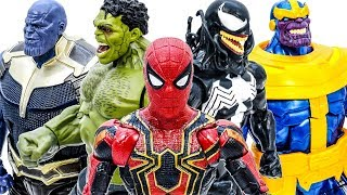 Avengers Toys Playing Together - Thanos Appeared~ Go Go Go~ Let