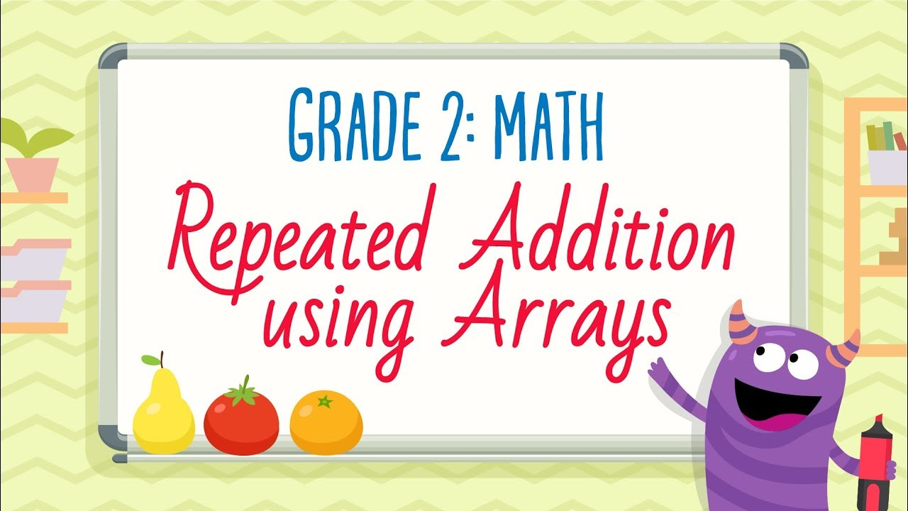 medium resolution of Repeated Addition using Arrays   2nd Grade Math   Kids Academy - YouTube