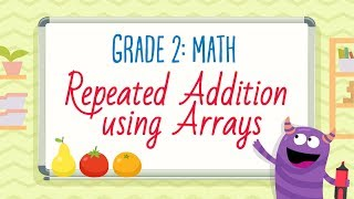 Repeated Addition using Arrays | 2nd Grade Math | Kids Academy