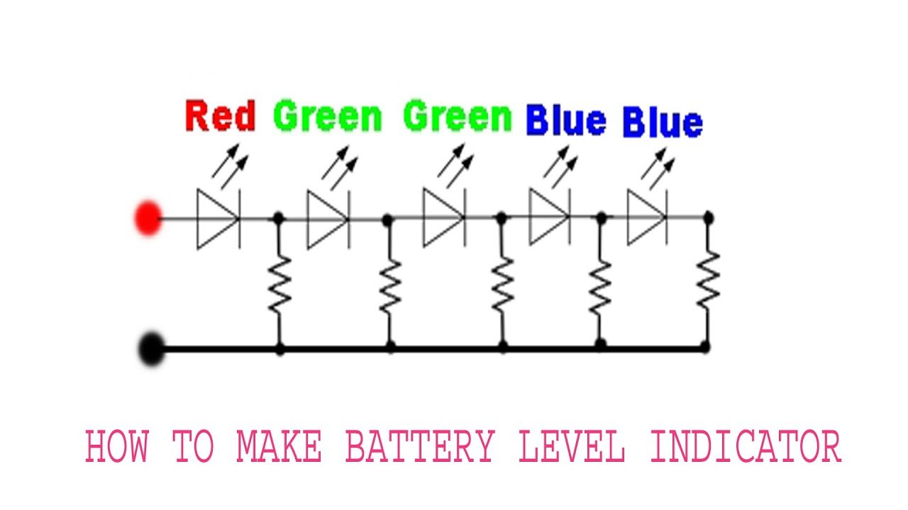 Battery Level Indicator Using Resister | Simple Battery Level Indicator