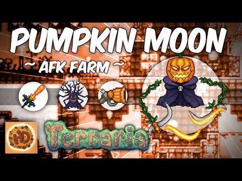 Terraria AFK Pumpkin Moon Wave 15 Farm (1.3 bosses)