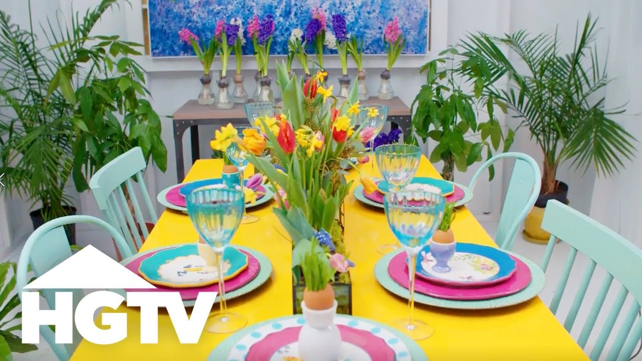 Easter Table Decorating Ideas - Way to Grow - HGTV