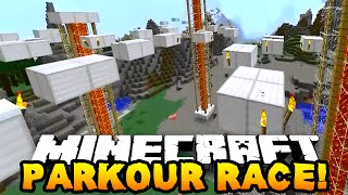 Minecraft ONE vs ONE PARKOUR RACE! (Degious Parkour #2) w/Preston & Woofless