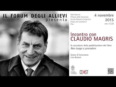 Incontro con Claudio Magris - 4 novembre 2015
