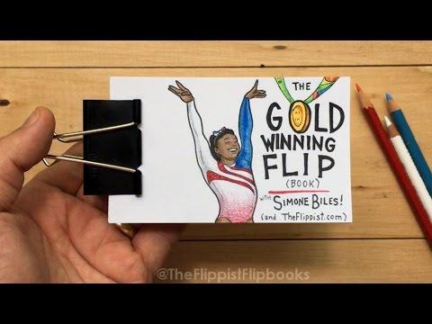 The Gold Winning Flip (book) with Simone Biles (2016 Olympics)