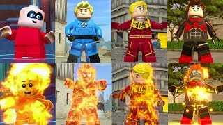All Flaming Character Transformations in LEGO Videogames