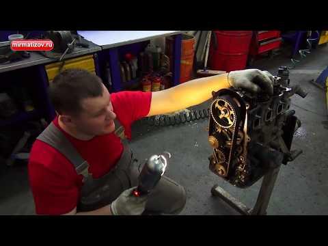 Капитальный ремонт двигателя Матиз: часть 3. Снятие головки блока цилиндров (ГБЦ).