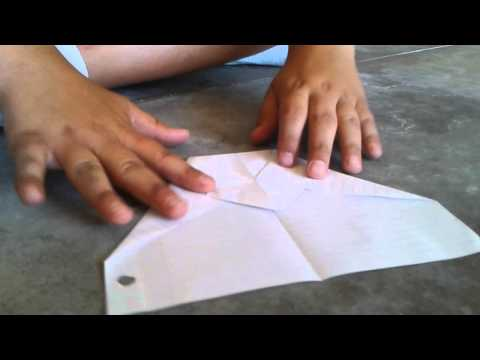 How to make a cool paper airplanes with lined