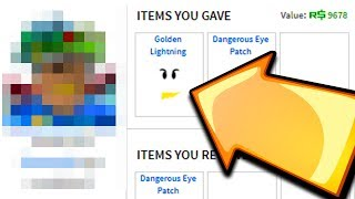 GIVING A FAN MY RAREST ITEM IN ROBLOX!!