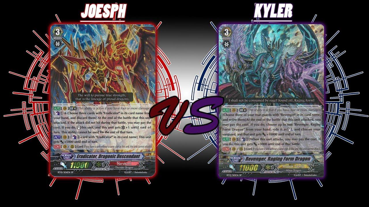 Cardfight! Vanguard: Eradicator, Dragonic Descendant vs Revenger ...