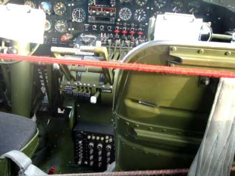 B17 Bomber Interior And Cockpit