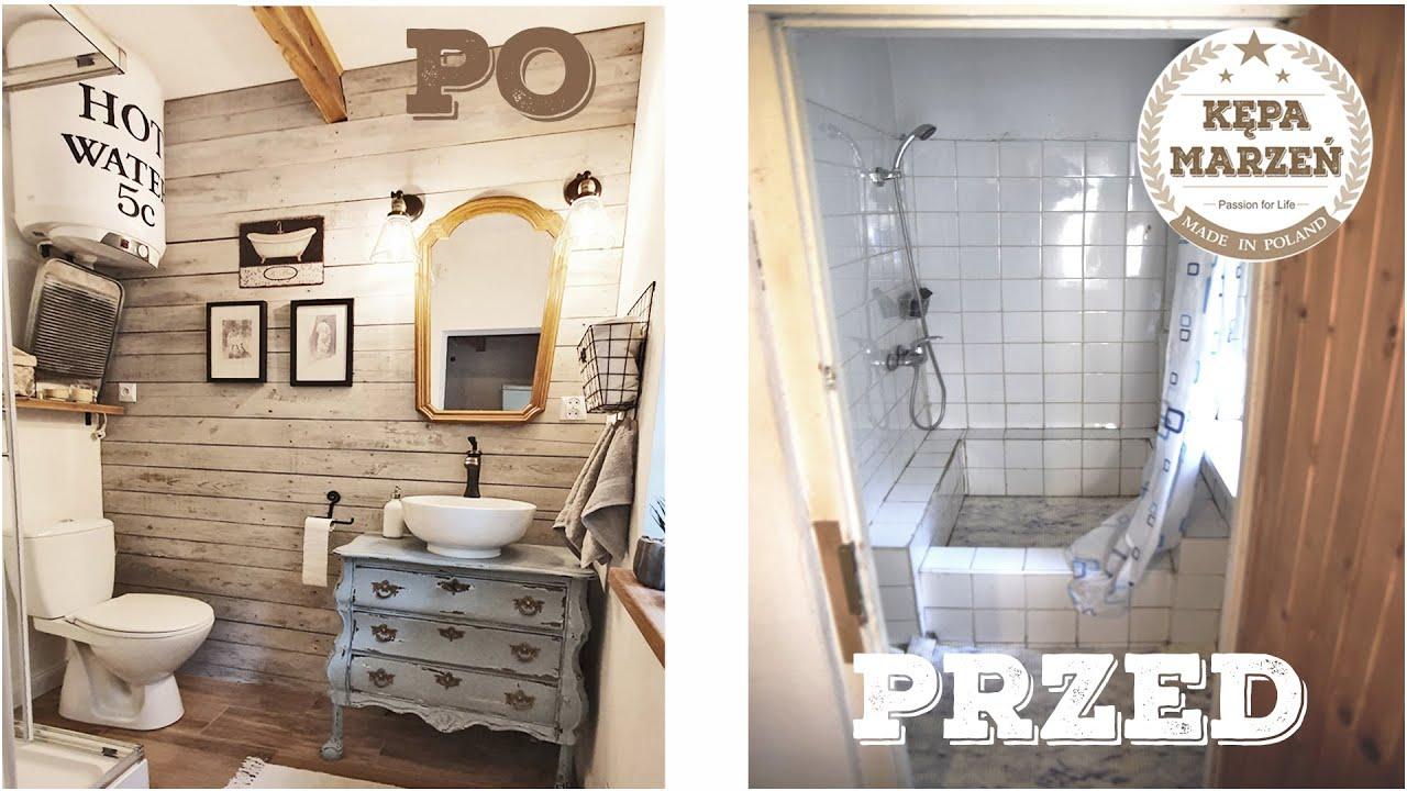 Ep 12 Metamorfoza łazienki W Stylu Farmhouse Finał Remontu Domek Letniskowy Chatka Marzeń
