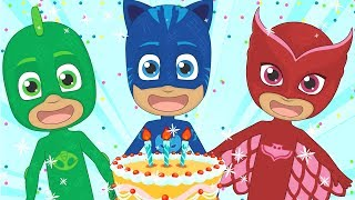 🌟 HAPPY BIRTHDAY 🌟 with PJ Masks | Party song for kids in english