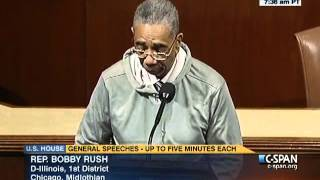 Rep. Bobby Rush (D-IL) Hoodie on the House Floor