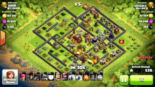 Clash of clan | Th9 Titan attacks . 1 and 2 stars strategy and a fail !