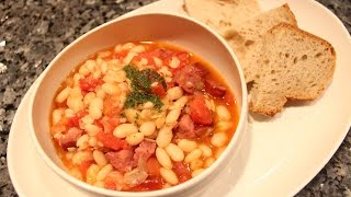Beans Sausage and Bacon - OrsaraRecipes