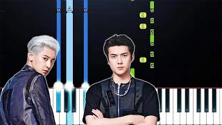 EXO-SC 세훈&찬열 '척 (Telephone) (Feat. 10CM)(Piano Tutorial)