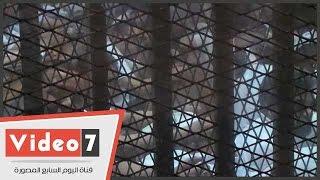 """بالفيديو ..إيداع متهمى قضية """"أحداث عنف بولاق أبو العلا"""" قفص الاتهام لبدء محاكمتهم"""