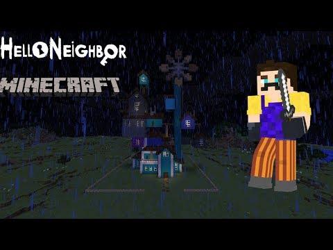 Hello Neighbor in Minecraft Custom House Roleplay!