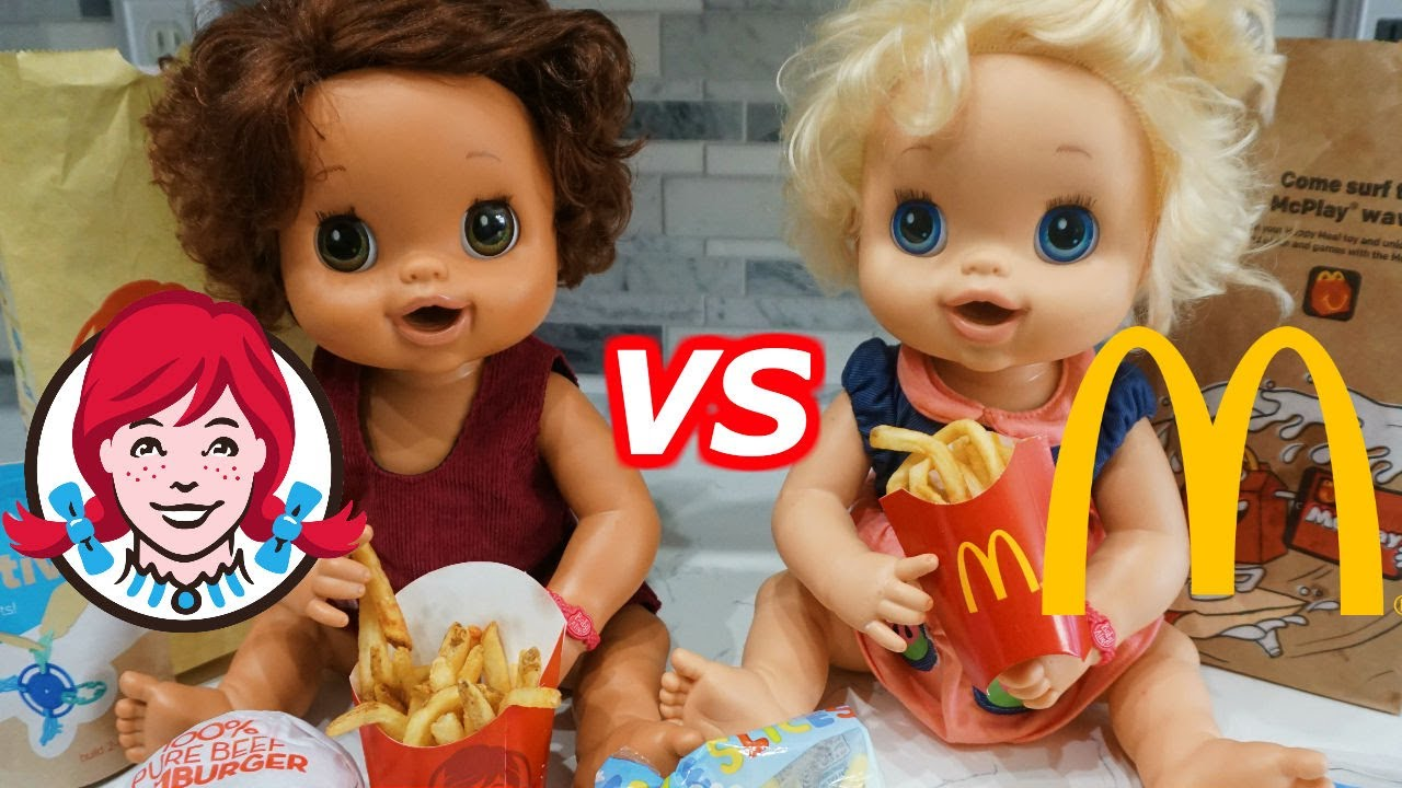 Baby Alive Mcdonalds Happy Meal Amp Wendy S Kids Meal Youtube