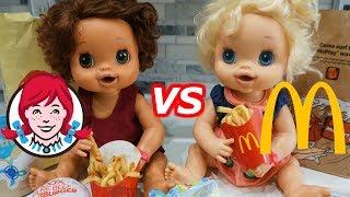 BABY ALIVE McDonalds Happy Meal & Wendy