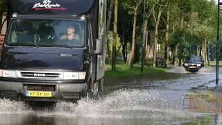 Water ballet na leidingbreuk in Leusden