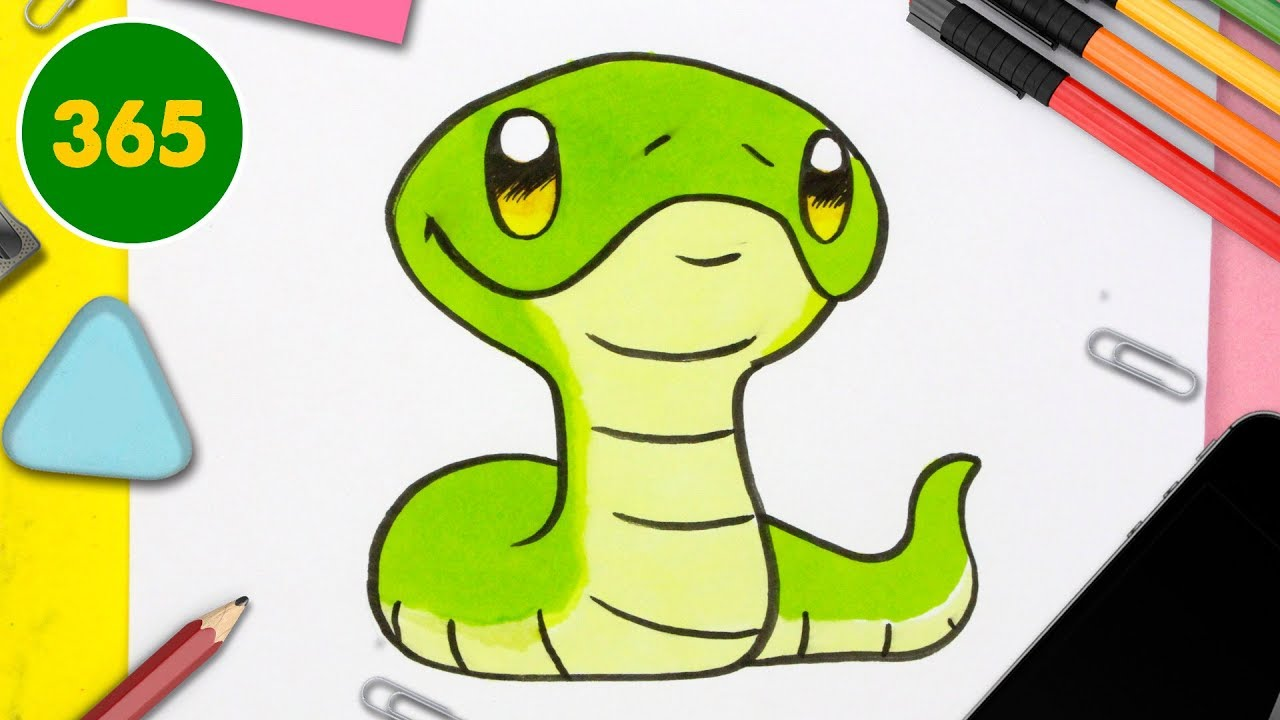 Comment Dessiner Un Serpent Kawaii Comment Dessiner Des Animaux Comment Dessiner Kawaii Facile