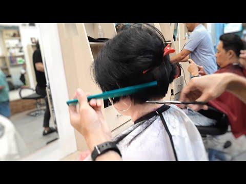 Long To Short Layer Steps Haircut Woman Youtube