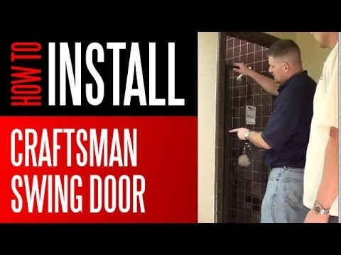 Shower Install - Craftsman Series Swing Door Shower Enclosure
