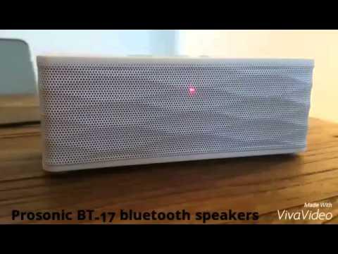 Velsete Prosonic BT-17 Bluetooth speakers - YouTube YU-76