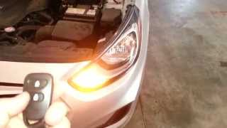 2013 Hyundai Accent - Testing Key Fob After Changing Battery - Parking Lights Flashing