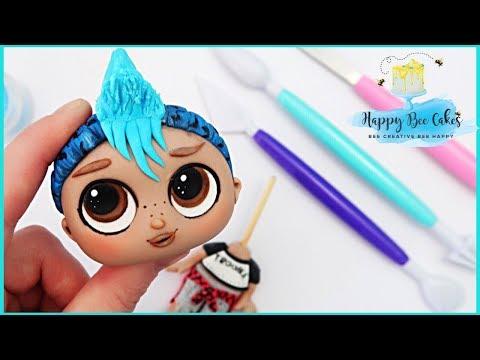 LOL suprise doll cake topper tutorial! PUNK BOI LOL surprise cakes
