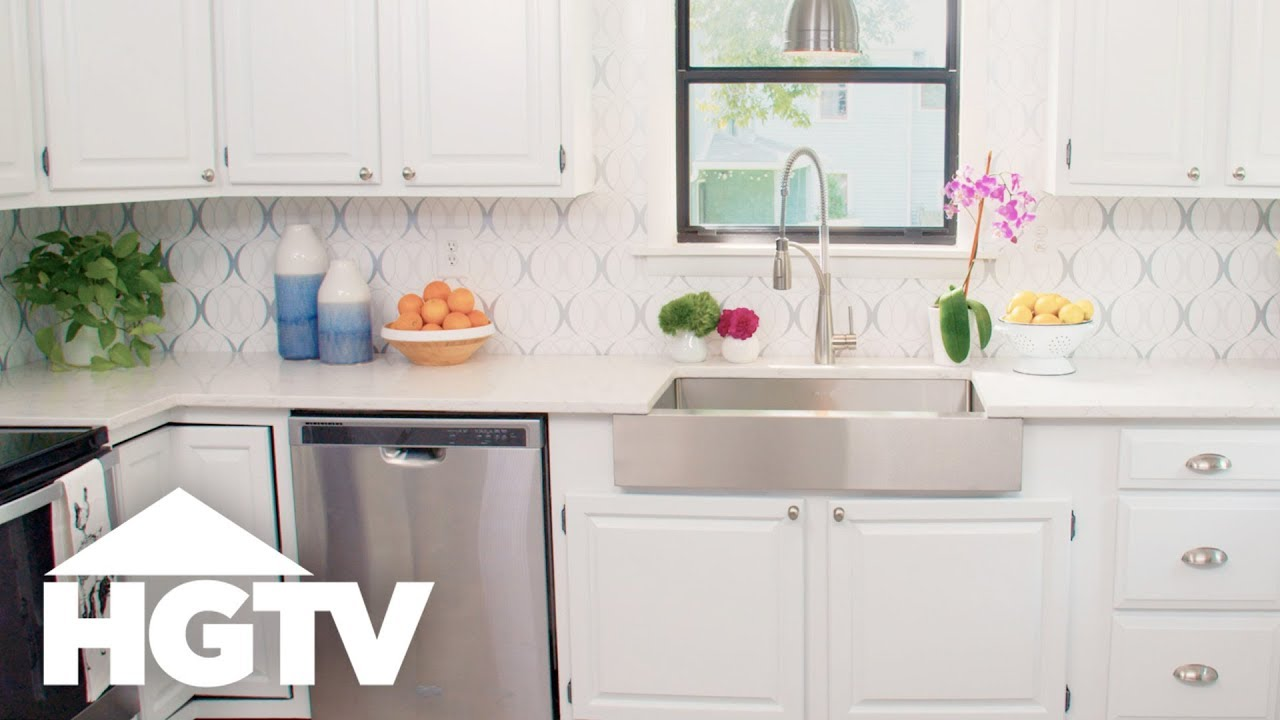 Refresh Your Kitchen With A Removable Backsplash   HGTV