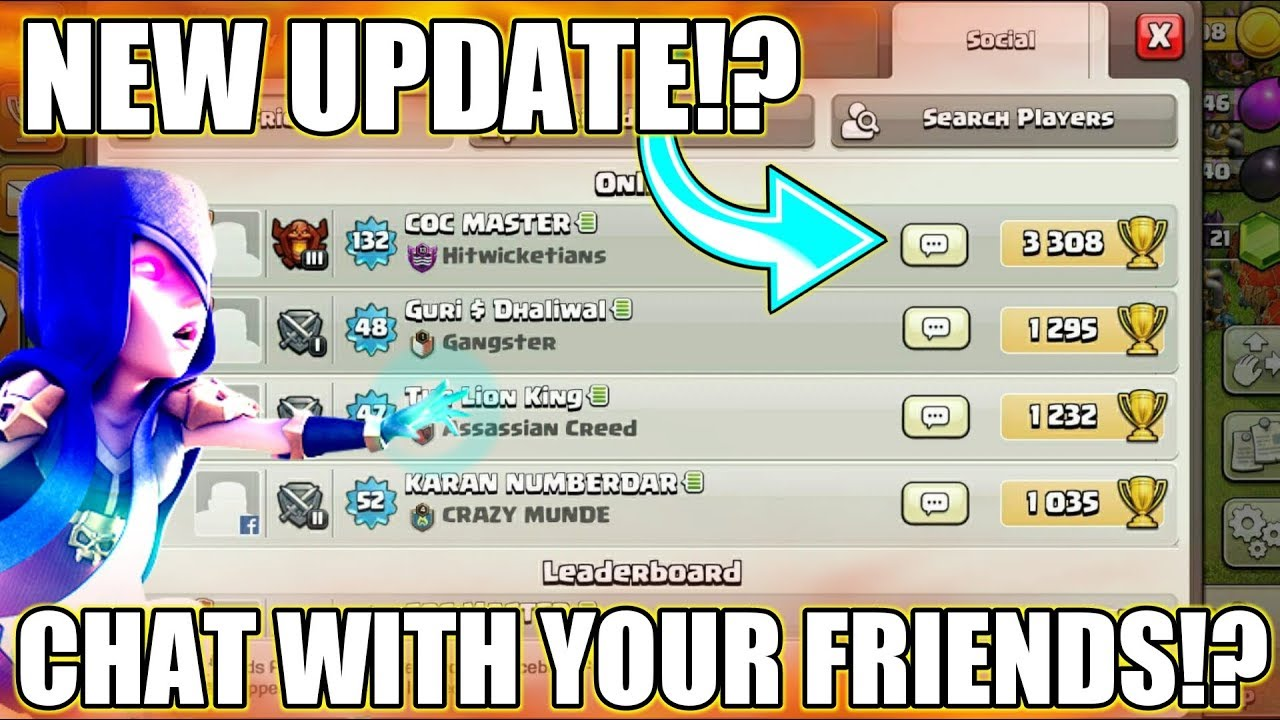 Download NEW UPDATE? ; YOU CAN CHAT WITH YOUR FRIENDS IN CLASH OF CLANS | NEW UPDATE CONCEPT