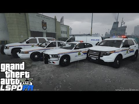 GTA 5 LSPDFR Police Mod Ep 67 |  RCMP Royal Canadian Mounted Police | CVPI, Charger,Explorer & Tahoe