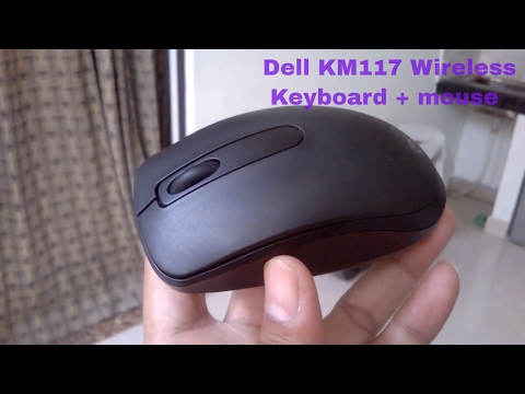 Dell KM117 Wireless Keyboard+Mouse kit Unboxing