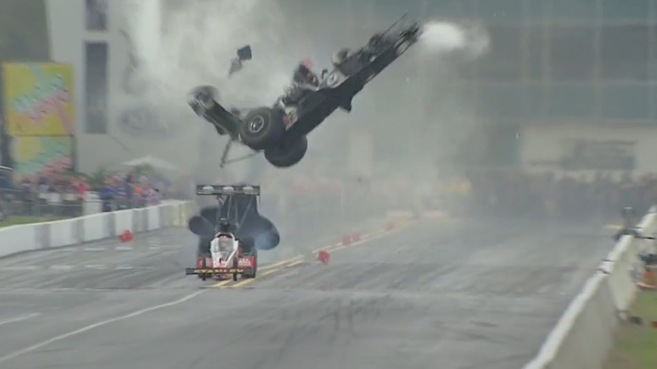 Scott Dixon crash footage shows car airborne and in flames