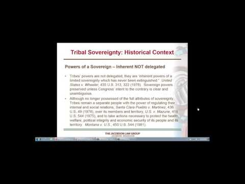 Tribal Sovereignty and Tribal Courts