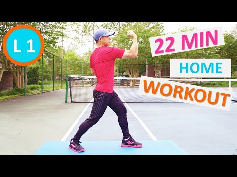 【Level 1】22-Minute Tabata No-Equipment Home Workout for beginner, Follow me step by step!