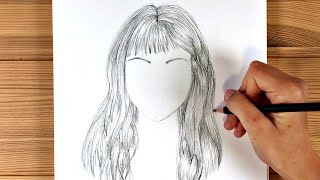 How to draw long hair easy / Speed drawing hairstyles / Ingrid Surprise Art