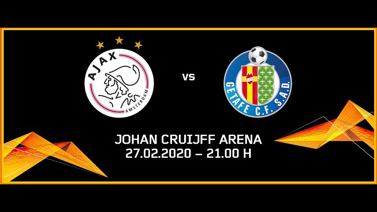 Kết quả hình ảnh cho Ajax vs Getafe