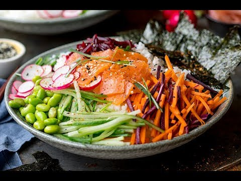 The BEST Salmon Sushi Bowl!