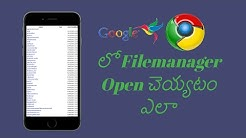 How to Open file manager in Chrome